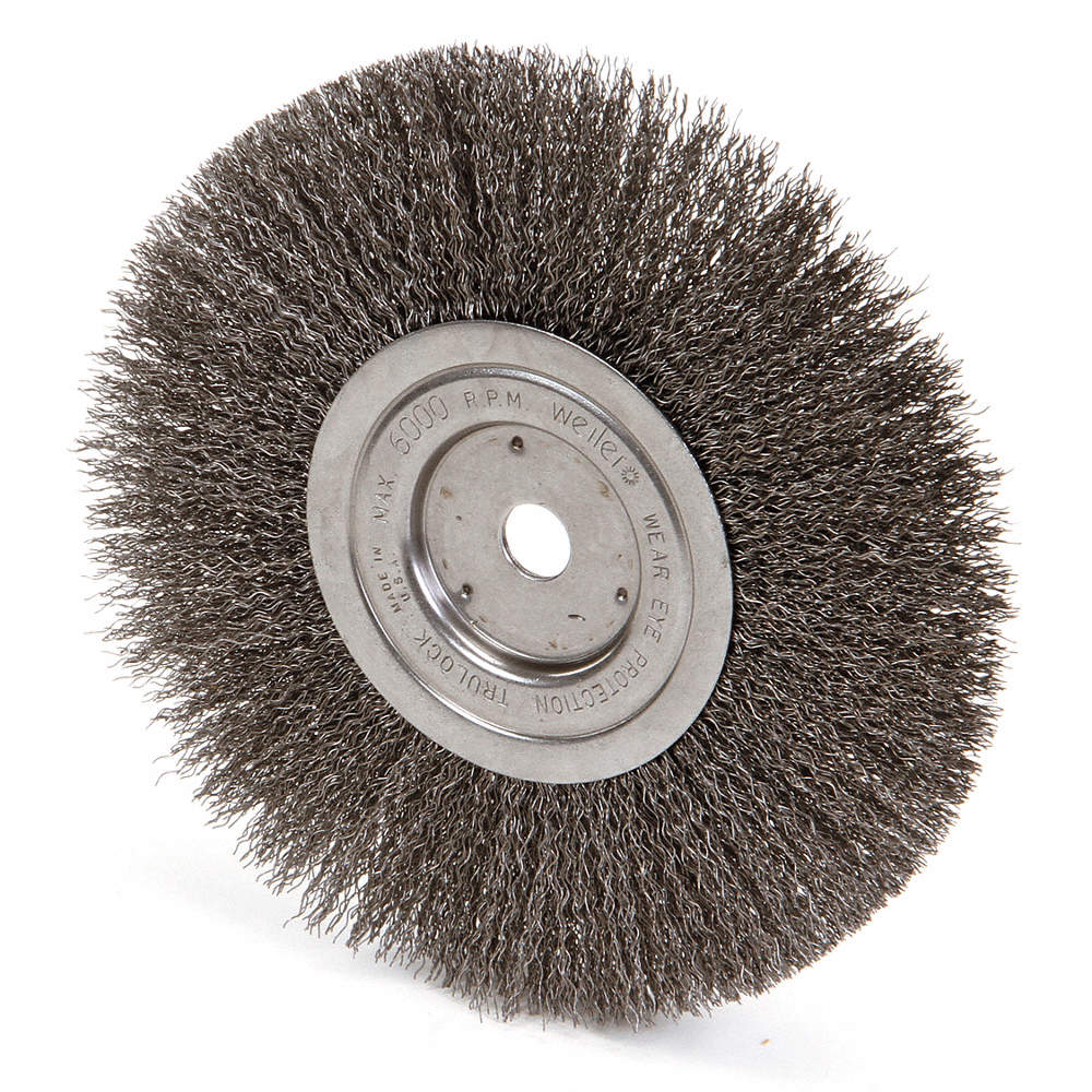 Awesome 8 Crimped Wire Wheel Brush Arbor Hole Mounting 0 014 Wire Dia 2 1 16 Bristle Trim Length 1 E Gmtry Best Dining Table And Chair Ideas Images Gmtryco