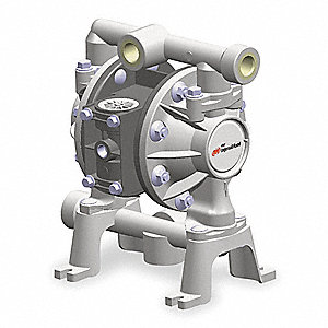 Polypropylene Santoprene® Multiport Double Diaphragm Pump, 14 gpm, 100 psi