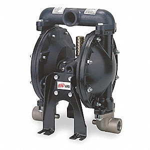 Aluminum Nitrile Single Double Diaphragm Pump, 35 gpm, 120 psi