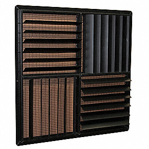 Louver Kit,36 in.,Plastic