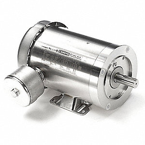 1-1/2 HP Washdown Motor,3-Phase,1750 Nameplate RPM,208-230/460 Voltage,Frame 143TC
