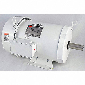 7-1/2 HP Washdown Motor,3-Phase,3520 Nameplate RPM,230/460 Voltage,Frame 213T