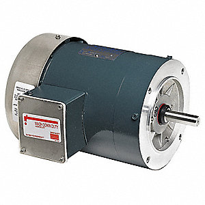 1 HP Car Wash Motor,3-Phase,1725 Nameplate RPM,230/460 Voltage,56C Frame