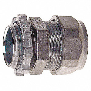 Compression Connector,3/4 In,Zinc