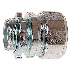 "1"" Rigid Compression Connector, Rain Tight, 1 15/16"" Overall Length"