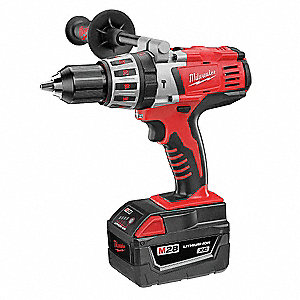 "1/2"" Cordless Hammer Drill Kit, 28.0 Voltage, Battery Included"