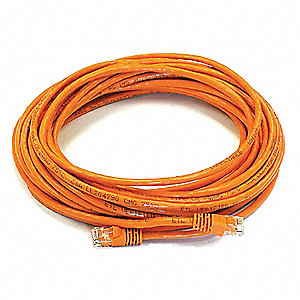 PATCH CORD,CAT6,30FT,ORANGE