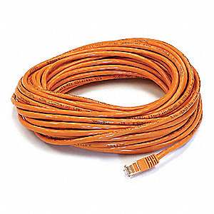 50 ft. Booted 6 Voice and Data Patch Cord, Orange