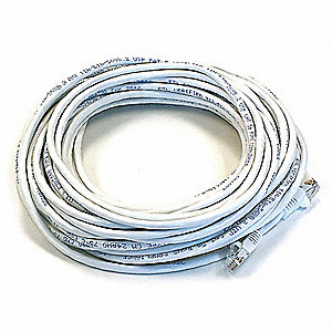 PATCH CORD,CAT6,50FT,WHITE