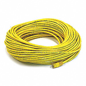 Ethernet Cable,Cat 6,Yellow,100 ft.