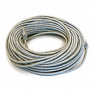 100 ft. Booted 6 Voice and Data Patch Cord, Gray
