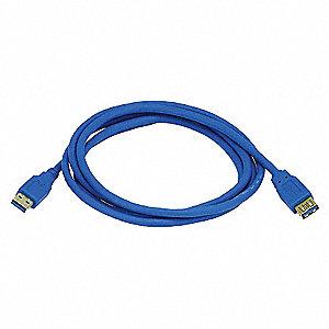 USB 3.0 EXTENSION CABLE,6 FT.L,BLUE