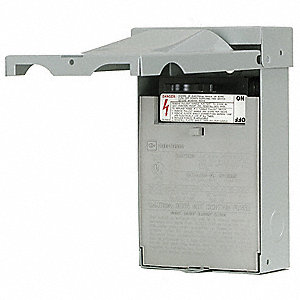 Fusible Air Conditioning Disconnect Switch, Metallic, Galvanized Steel, 60 Amps AC