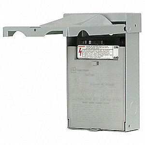 Fusible Air Conditioning Disconnect Switch, Metallic, Galvanized Steel, 30 Amps AC