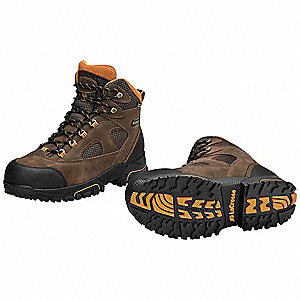 Hiking Boots,Pln,Ins,Mens,4-1/2,Brn,PR