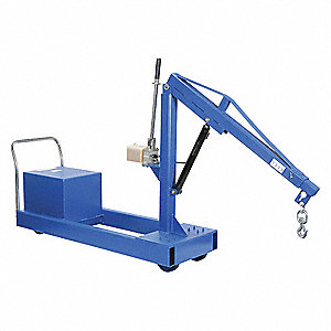 Mobile Floor Crane,CounterBalance,2000Lb