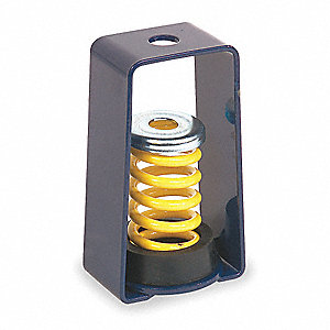 Hanger Mount Vibration Isolator, Spring Isolator Type, 130 to 175 lb. Capacity Range