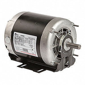 1/2, 1/4 HP Belt Drive Motor, 3-Phase, 1745/1140 Nameplate RPM, 200-230 Voltage, Frame 56Y