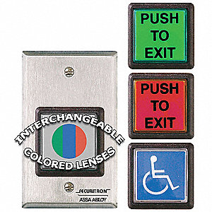 Push to Exit Button, Wall Mounted