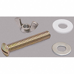 Plated Metal Toilet Seat Hardware