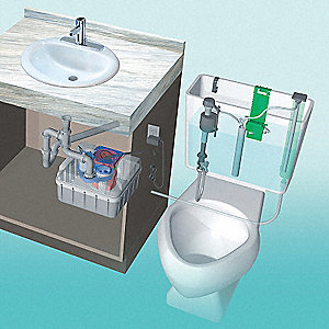 Greywater System, 12 Voltage, Basin Capacity: 5.5 gal.