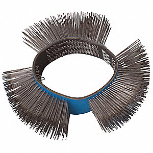 "Arbor Hole Wire Wheel Brush, Straight Wire, 4"" Brush Dia."