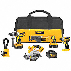 XRP® Cordless Combination Kit, 18.0 Voltage, Number of Tools 5
