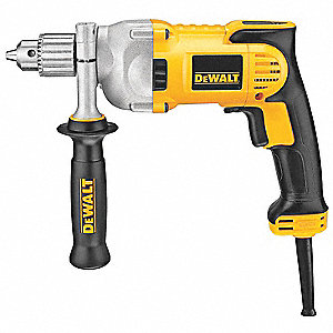"1/2"" Electric Drill, 10.5 Amps, Pistol Grip Handle Style, 0 to 1250 No Load RPM, 120VAC"