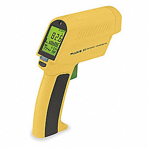 Infrared Thermometer, -25° to 1600°F Temp. Range (F), Includes: Battery and Hard Carrying Case
