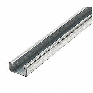 "Solid Standard 1-5/8"" x 13/16"" Strut Channel, 14 ga., 5 ft. Length"