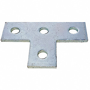 Steel Channel Flat Plate, Electro Galvanized Finish