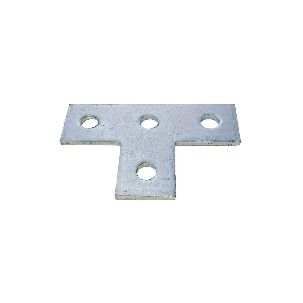 GRAINGER APPROVED V321EG Channel Angle Plate,Silver