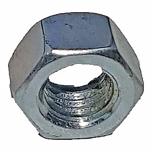 Steel Channel Hex Nut, Electro Galvanized Finish