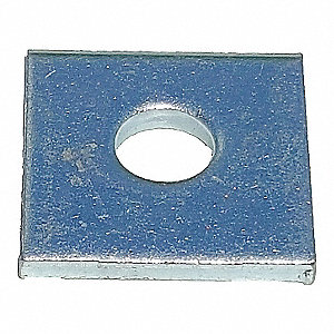 Steel Channel Square Washer, Electro Galvanized Finish