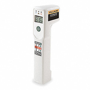 LCD Infrared Thermometer, Laser Sighting: Single Dot, -20° to 390° Temp. Range (F)