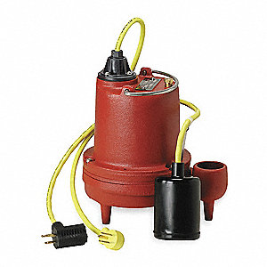 4/10 HP Submersible Sump Pump, Tether Switch Type, 303 Stainless Steel Base Material