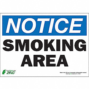 SIGN NOTICE SMOKING 10X14 SA