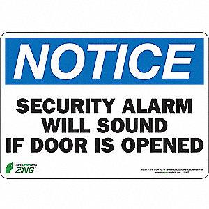 SIGN NOTICE SECURITY 7X10 SA
