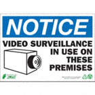 SIGN VIDEO SURVEILLANCE 10X14 ALUM
