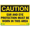 Caution Sign, 7 x 10In, BK/YEL, ENG, Text