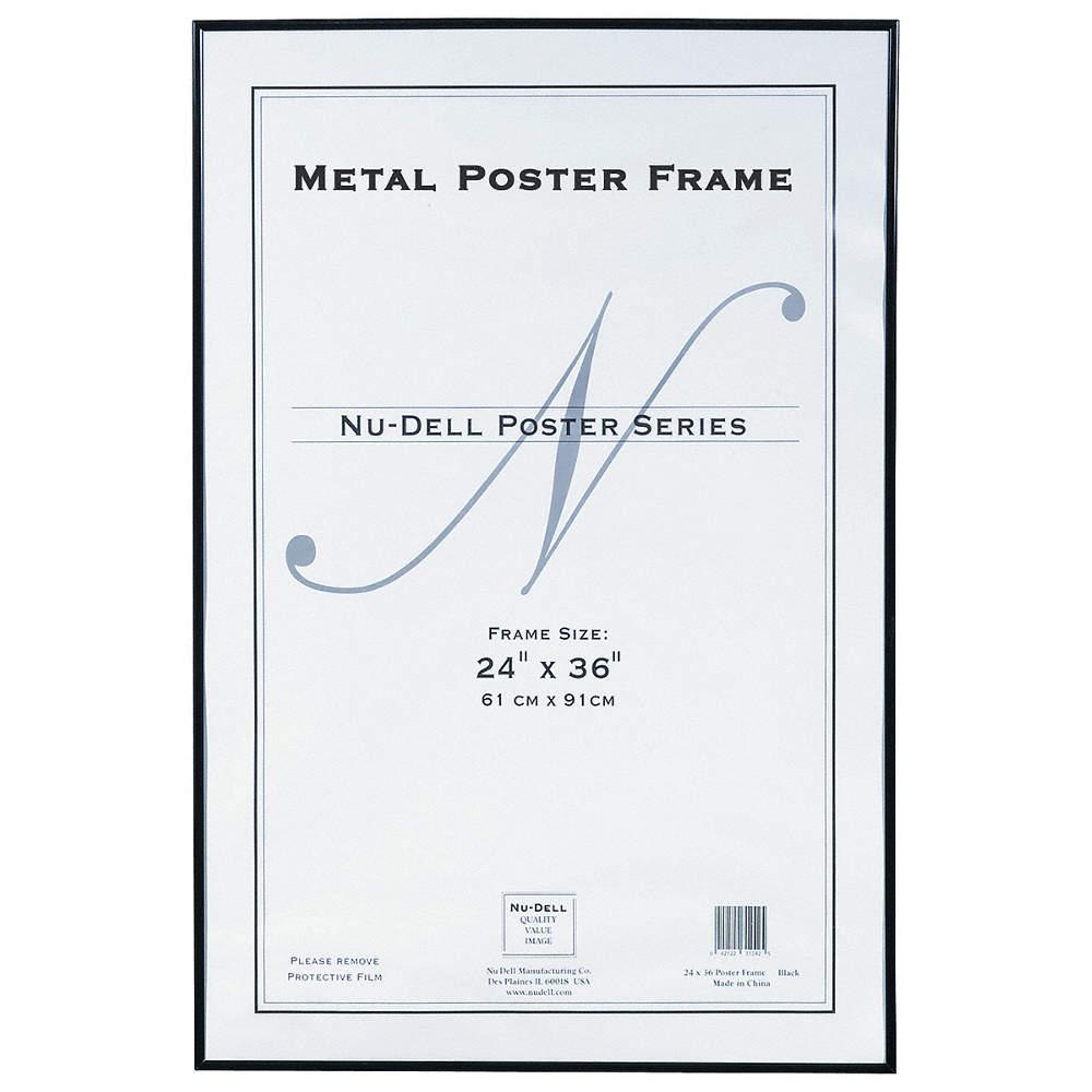 NUDELL Metal Poster Frame 24x36 Black - 5YGE7|31242 - Grainger