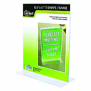 SIGN HOLDER,FREESTANDNG,8-1/2X11,AC