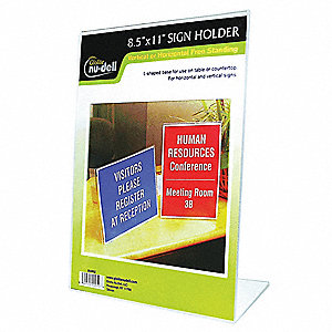 SIGN HOLDER,FREESTANDING,8-1/2X11AC