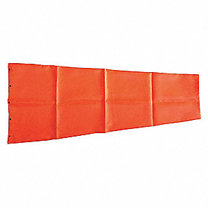 "Orange Replacement Windsock, Polyester, 13"" Diameter, 55"" Length"