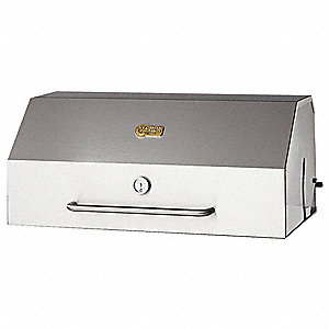 "30"" x 23"" x 16"" Stainless Steel Roll Dome Hood"