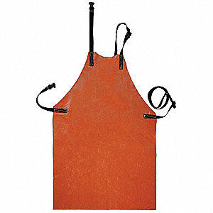 Flame-Resistant Ins. Apron,Brown,42 In