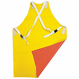 Flame-Resistant Ins. Apron,Ylw/Orng,42In