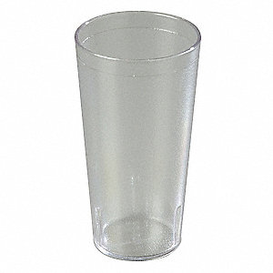 Tumbler,Stackable,20 Oz,Clear,PK24