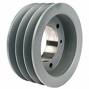 "V-Belt Pulley,Detachable,3Groove,6.15""OD"