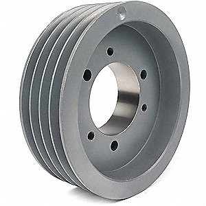 "V-Belt Pulley,Detachable,4Groove,5.4""OD"